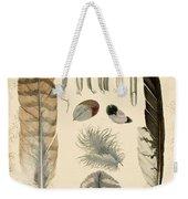 Vintage Feather Study-a Weekender Tote Bag