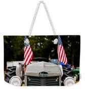 Vintage Ferguson Tractor With American Flags Weekender Tote Bag