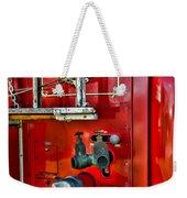 Vintage Fire Truck Weekender Tote Bag