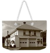 Congers, New York - Vintage Firehouse Weekender Tote Bag