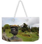 Vintage Flowerpots And Garden View - Powerscourt Garden Weekender Tote Bag