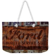 Vintage Ford Authorized Service Sign Weekender Tote Bag