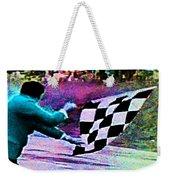 Vintage Formula 1 Race Checkered Flag  Weekender Tote Bag