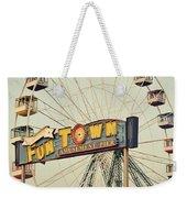 Vintage Funtown Ferris Wheel Weekender Tote Bag