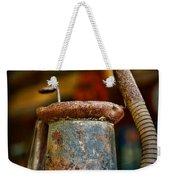 Vintage Garage Oil Can Weekender Tote Bag