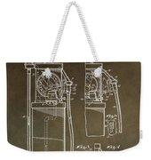 Vintage Gas Pump Patent Weekender Tote Bag