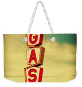 Vintage Gas Sign Weekender Tote Bag