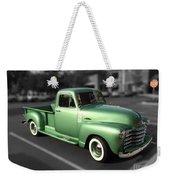 Vintage Green Chevy 3100 Truck Weekender Tote Bag