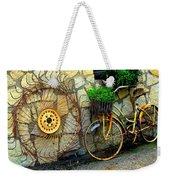 Antique Store Hay Rake And Bicycle Weekender Tote Bag