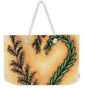 Vintage Heart Wreath Weekender Tote Bag