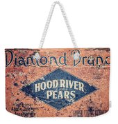 Vintage Hood River Pear Crate Weekender Tote Bag