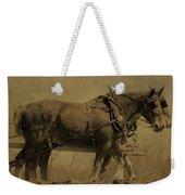 Vintage Horse Plow Weekender Tote Bag