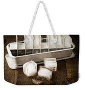Vintage Ice Cubes Weekender Tote Bag by Edward Fielding