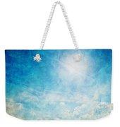 Vintage Image Of Sunny Blue Sky Weekender Tote Bag