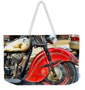 Vintage Indian Motorcycle - Live To Ride Weekender Tote Bag