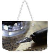 Vintage Ink Pen Weekender Tote Bag