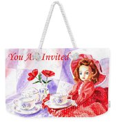 Vintage Invitation Weekender Tote Bag