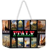 Vintage Italy Travel Posters Weekender Tote Bag