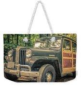 Vintage Jeep Station Wagon Weekender Tote Bag