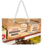 Vintage Jell-o Butterscotch Pudding Weekender Tote Bag by Edward Fielding