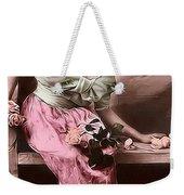 Vintage Lady Rose  Limited Sizes Weekender Tote Bag