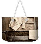 Vintage Laundry Room In Sepia Weekender Tote Bag