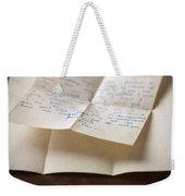 Vintage Letter Weekender Tote Bag