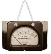 Vintage Light Meter Weekender Tote Bag by Edward Fielding