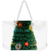 Vintage Lighted Christmas Tree Decoration Weekender Tote Bag