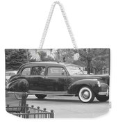 Vintage Lincoln Limo Black N White Weekender Tote Bag