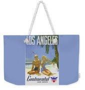 Vintage Los Angeles Travel Poster Weekender Tote Bag