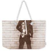 Vintage Male Skateboarder Weekender Tote Bag