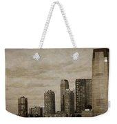 Vintage Manhattan Skyline Weekender Tote Bag