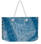 Vintage Manhattan Street Map Blueprint Weekender Tote Bag