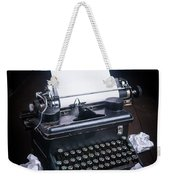Vintage Manual Typewriter Weekender Tote Bag