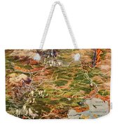 Vintage Map Of Yellowstone National Park Weekender Tote Bag
