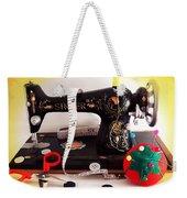 Vintage Mini Sewing Machine Weekender Tote Bag