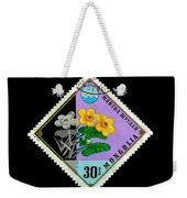 Medicinal Plants - Vintage Mongolia Stamp Weekender Tote Bag