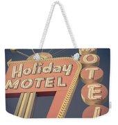 Vintage Motel Sign Holiday Motel Square Weekender Tote Bag