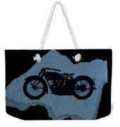 Vintage Motorcycle Weekender Tote Bag