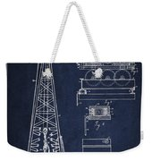 Vintage Oil Drilling Rig Patent From 1916 Weekender Tote Bag