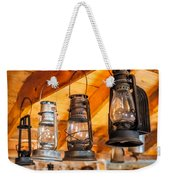 Vintage Oil Lanterns Weekender Tote Bag by Paul Freidlund