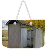 Vintage Outhouse Alongside A Historical Country School In Southwest Michigan Weekender Tote Bag