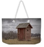 Vintage Outhouse Behind A Historical Country School In Southwest Michigan Weekender Tote Bag
