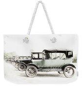 Vintage Parking Weekender Tote Bag