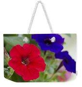 Vintage Petunia Flowers Weekender Tote Bag