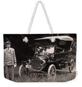 Vintage Photo Of Rural Mail Carrier - 1914 Weekender Tote Bag