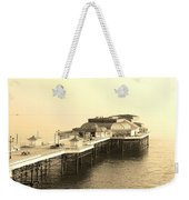 Vintage Pier At Dawn Weekender Tote Bag