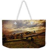 Vintage Plane Weekender Tote Bag