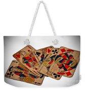 Vintage Playing Cards Art Prints Weekender Tote Bag